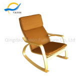 Hot-Selling Bendwood Rocking Chair with Armrest
