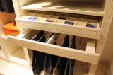L-Shaped Walk-in Wardrobe with Drawers