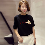 Chinese Factory Comfortable Women′s T-Shirt Short Sleeve