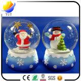 Christmas Santa Claus Snow Man Snow Ball with Wind up Musical Box