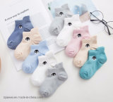Factory Wholesale Embroidery Penguin Baby Socks Mesh Breathable Socks