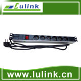 Best Price Germany Type 19A 6 Way PDU with Control Unit (aluminium alloy shell)