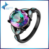 for Women Silver Jewelry 925 Sterling Silver Colourful Glass & Opal Rings