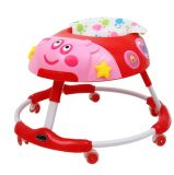 The New Silent Wheel Baby Walker Is Anti-Rolled-Over and Children Can Sit in The Folding Baby Boy and Girl Piggy Walking Car