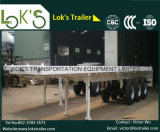 40 Feet 3axles Flatbed Semi Trailer/Single Tyre