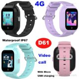 4G Video Call IP67 Waterproof Kids Children GPS Tracker Smart Watch D61