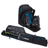192 Cm Black Ski Roller Bag Package Combo for Round Trip
