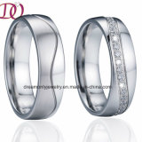 Brushed Wedding Band Engagement Couple Rings Love Promise Gift