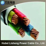 0.6/1kv Metal Core PVC Insulated Steel Tape Armored Fire-Resistant Red Copper Wire (N-VV22 1*16)