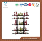 "Customized 3"" Tall Wooden Arc Shaped Counter Display Stand"