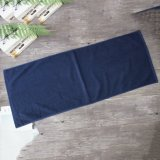 Super Cheap Custom Plain Cotton Fitness Towel Dark Blue Gym Towel