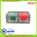 European Glass Candle with PVC Lid