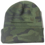 Factory Produce Army Green Print Acrylic Winter Beanie Hat