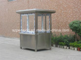Glass Low Cost Small Mobile Prefabricated/Prefab House for Road Guard in China