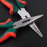 Hand Tool Long Nose Pliers with Green Handle