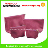 OEM Pink Vinyl Travel Cosmetic Bag for Toiletry