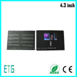 2017 Year The Newest 4.3inch LCD Promotion Brochures Video Greeting Cards with Leather