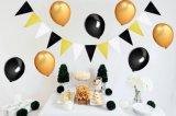Wedding Birthday Decoration Garland Gold Balloon Triangle Banner