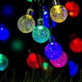 Solar Light 20LED Crystal Ball Waterproof for Wedding Party Christmas String
