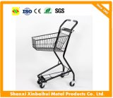 Double Baskets Shopping Trolley Used in Small Suppermarket and Convennience Store