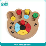 Paw Shape Pet Iq Training Wooden Toys