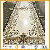 High Quality Polished Natural Marble Stone Waterjet Medallion for Hotel Hall