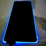 Custom Printing RGB LED Mouse Pad Mat 7 Colors Lighting Keyboard Gaming Mouse Pad