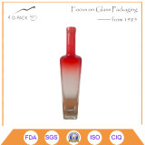 500ml Square Glass Bottle with Decoration