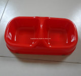 Red Square Plastic Pet Product