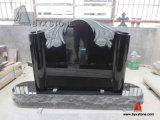 Special Design Shanxi Black Flower Carving Tombstone Monumnet
