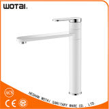 White Single Lever Swivel Kitchen Faucet Kitchen Tap