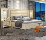MDF Stainless Steel Double Bed Wooden Beds King Size Bedroom Set High Headboard Modern Home Furniture