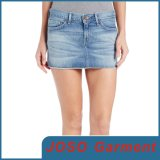 Light Blue Denim Mini Cut off Skirt (JC2021)