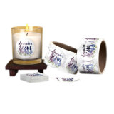 Custom Transparent or Paper Material Pillar Candle Sticker Label