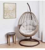 Professional Manufacturer Balcony PE Rattan Hanging Egg Shaped Swing Chair with Stand