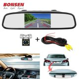 """4.3"""" Car Rearview Mirror Monitor Auto Parking System + 8 IR LED Night Vision CCD Car Backup Reverse Rear View Camera"""