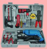 Power Tool (Impact Drill Set, including Impact Drill, Ruler, Drill Bits, Gloves, Knife)