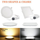 3W 6W 9W 12W 15W 18W LED Square Lights 225*225*20mm Super Bright 6000K Cool Whites