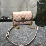 New Arrival Fashion Ladies Handbag PU Girl Bag with Purple Quilted PU Leather Bags