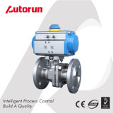 Stainless Steel Flang Connection Pneumatic Ball Valve