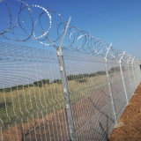 Hot Dipped Galvanized High Security 358 Anti Climb Clear Vu Mesh Fence Panels