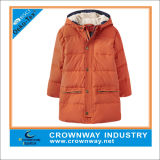 Nice Long Quilted Outdoor Padded Jacket for Boys