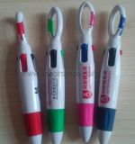 Cheap Promotional Campaign Gifts Carabiner 4 Colors Ink Pen