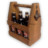 Handcrafted Wooden Beer Carrier for 6 Bottle Pack