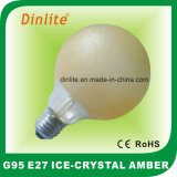 G95-40W 60W 100W Ice Crystal Amber Incandescent Bulb