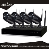 4CH WiFi Wireless P2p NVR CCTV Security Camera Kits with Array