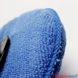 Blue Round Microfiber Car Cleaning Wash Sponge