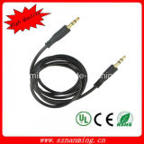 High Quality 3.5mm M-M Audio Jack Connection Cable Black (1M-Length)