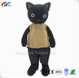 Dressed Stuffed Animals Cat Plush Toys Black 13 Inches