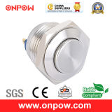 Onpow 16mm Metal Push Button Switch (GQ16H-10/J/S, 16mm, CE, RoHS Compliant)